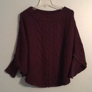 Eggplant Ann Taylor poncho with sleeves